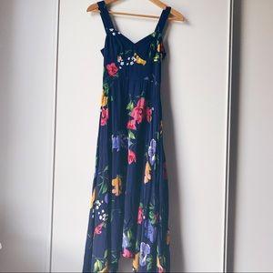 Maeve Anthropologie blue floral dress